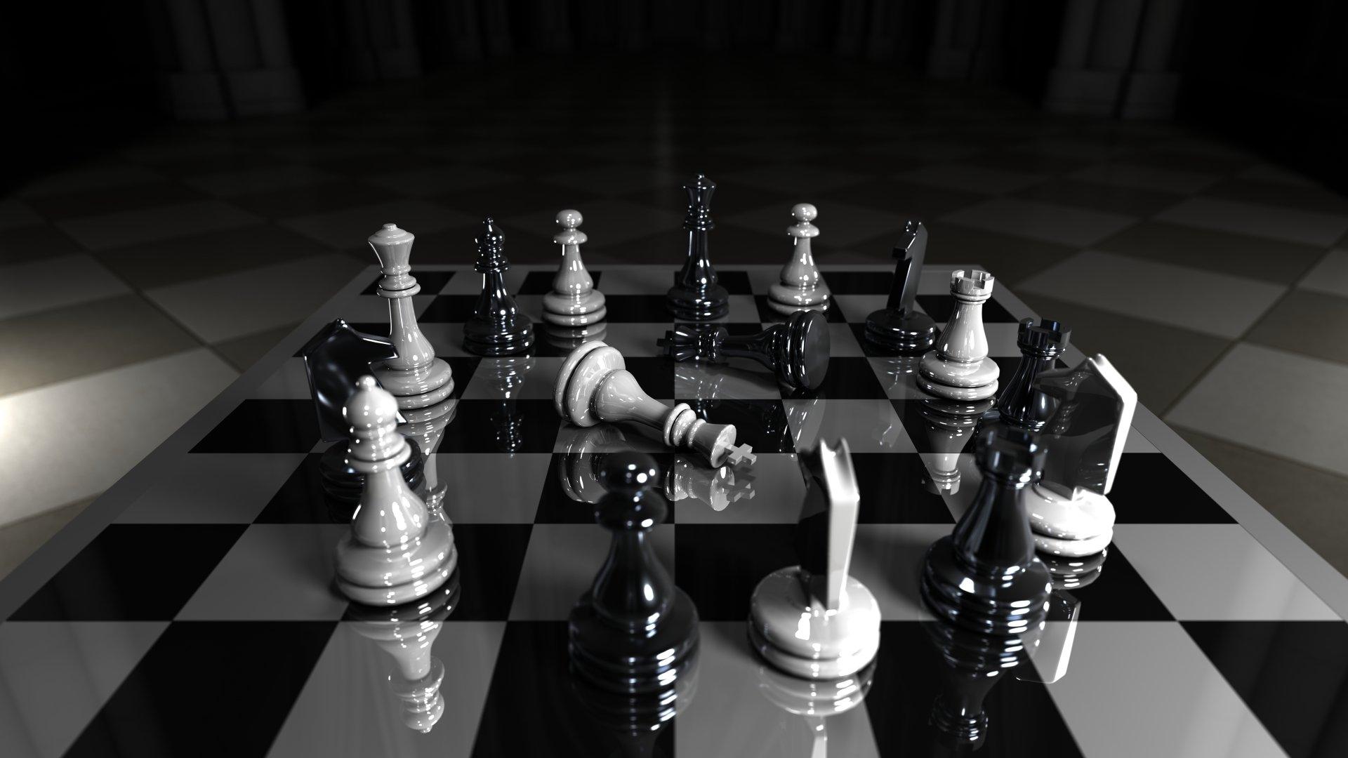 Fond écran échecs Noir et Blanc