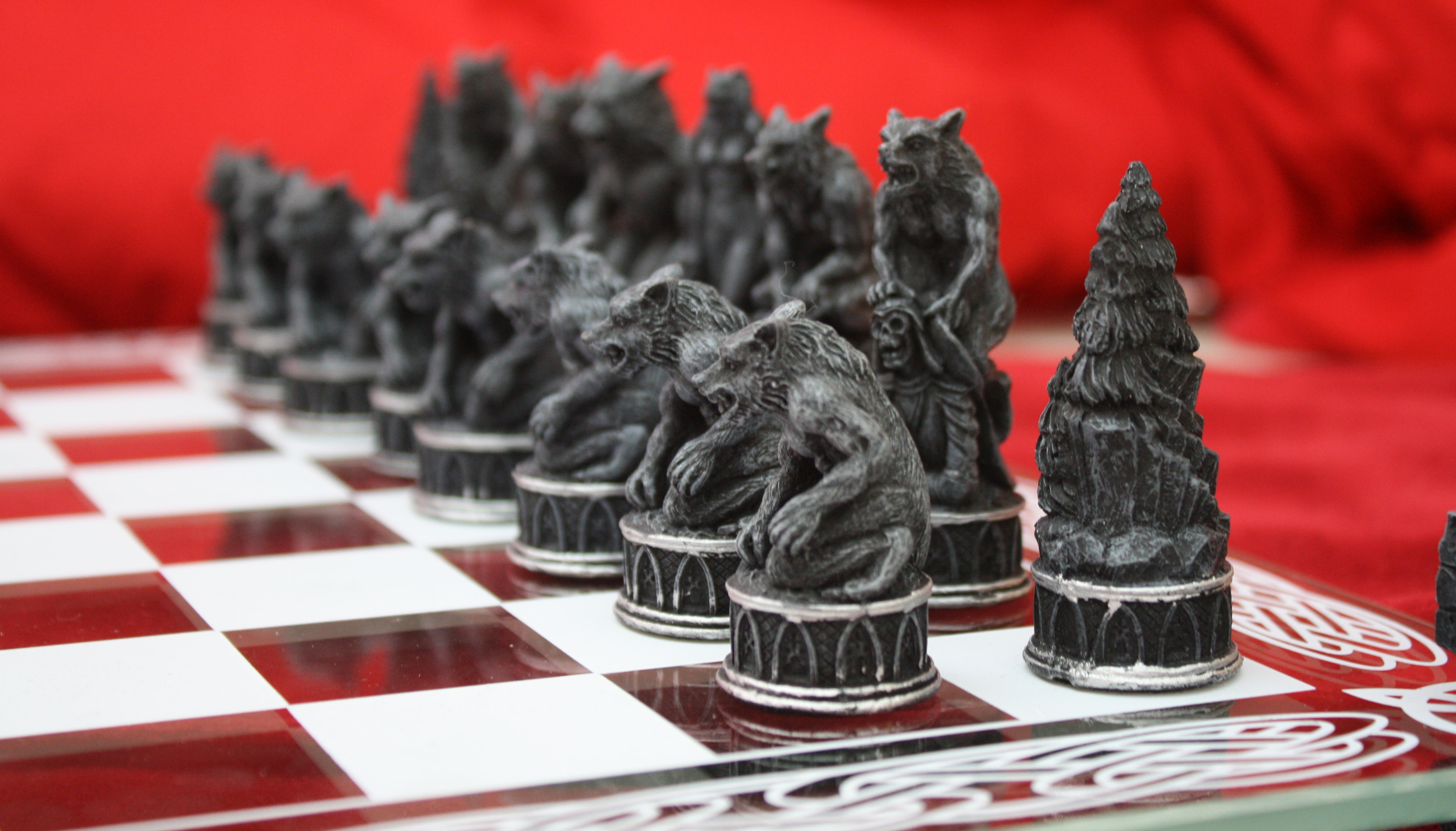 Wild wolf chess wallpapers, loups sauvage échecs